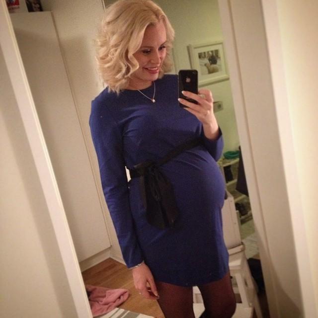 blåklänning